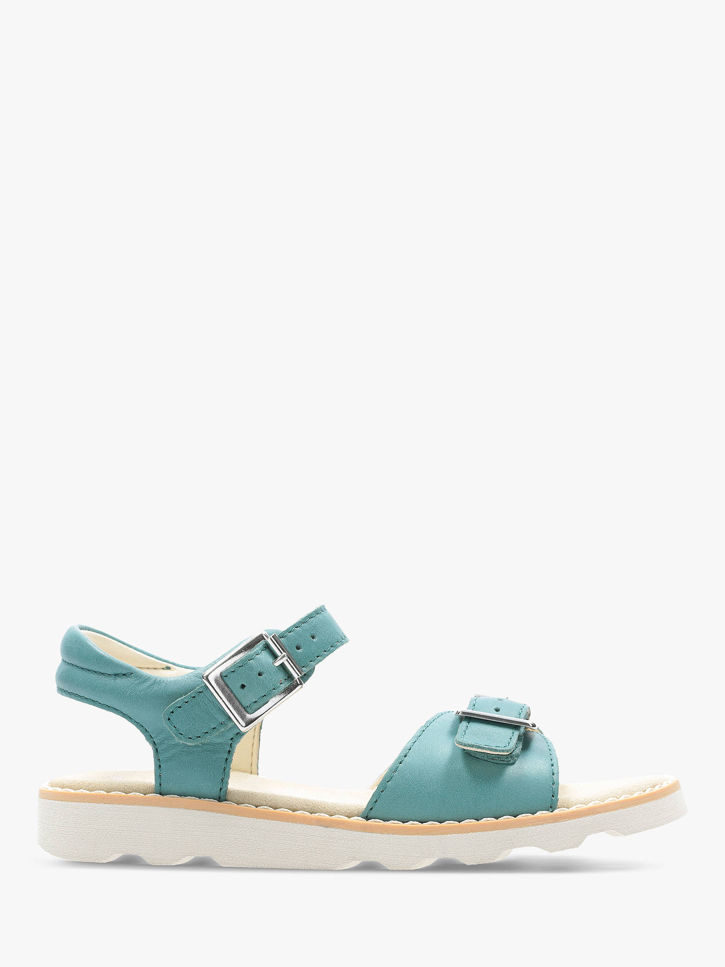 ef371098e0aa8 Buy Clarks Children's Crown Bloom Sandals, Teal, 13F Jnr Online at  johnlewis. ...
