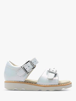 Clarks Children's Crown Bloom Sandals, White