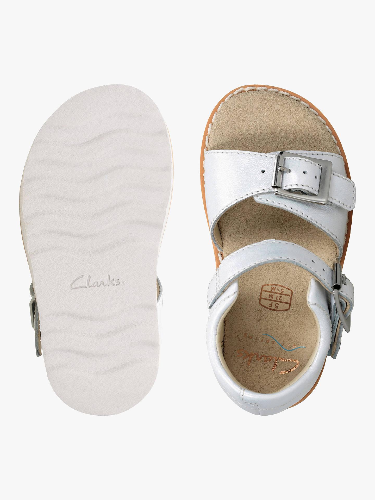 Clarks Children's Crown Bloom Sandals, White at John Lewis