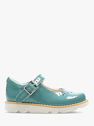 Clarks Junior Crown Jump Patent Buckle Shoes
