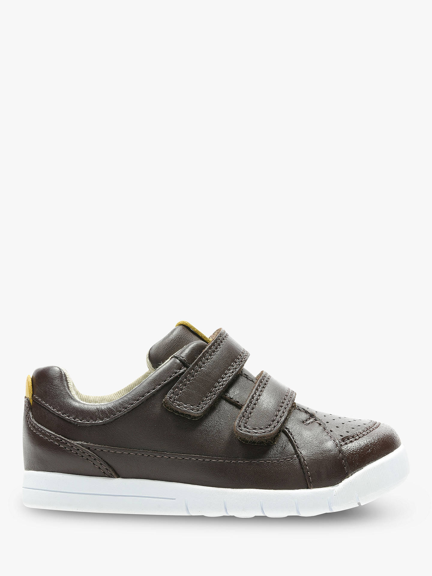 0af5d876597dc Buy Clarks Children's Emery Walk Riptape Shoes, Brown, 5H Jnr Online at  johnlewis.