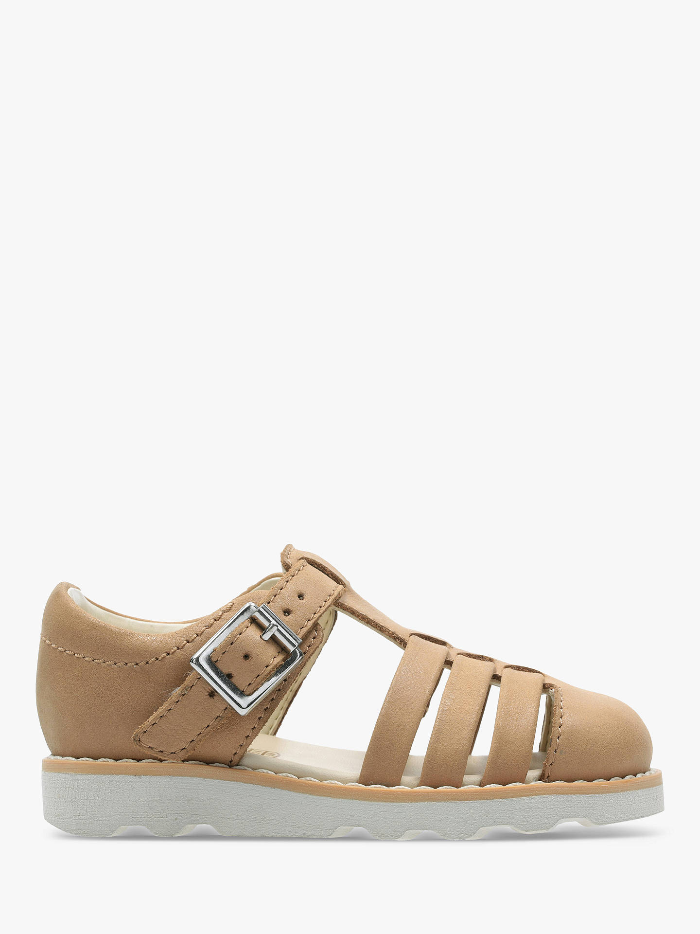 792de3632f84a Buy Clarks Children's Crown Stem Leather Sandals, Tan, 7.5G Jnr Online at  johnlewis ...
