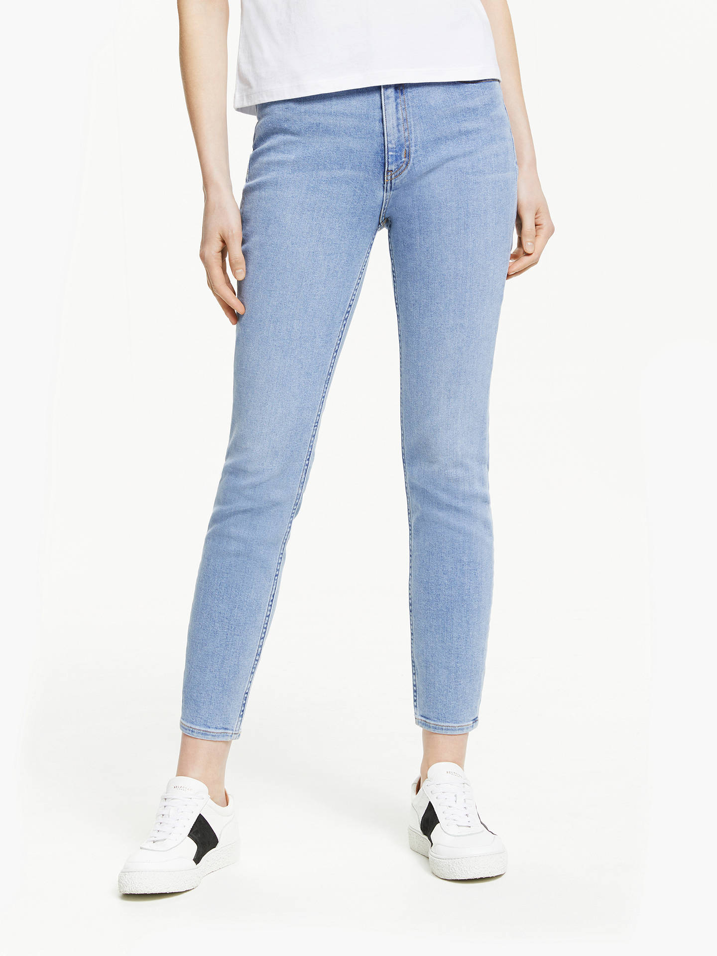 9c89e8f27c9e6 Buy Calvin Klein High Rise Skinny Ankle Jeans, Iconic Stone, W27/L30 Online  ...