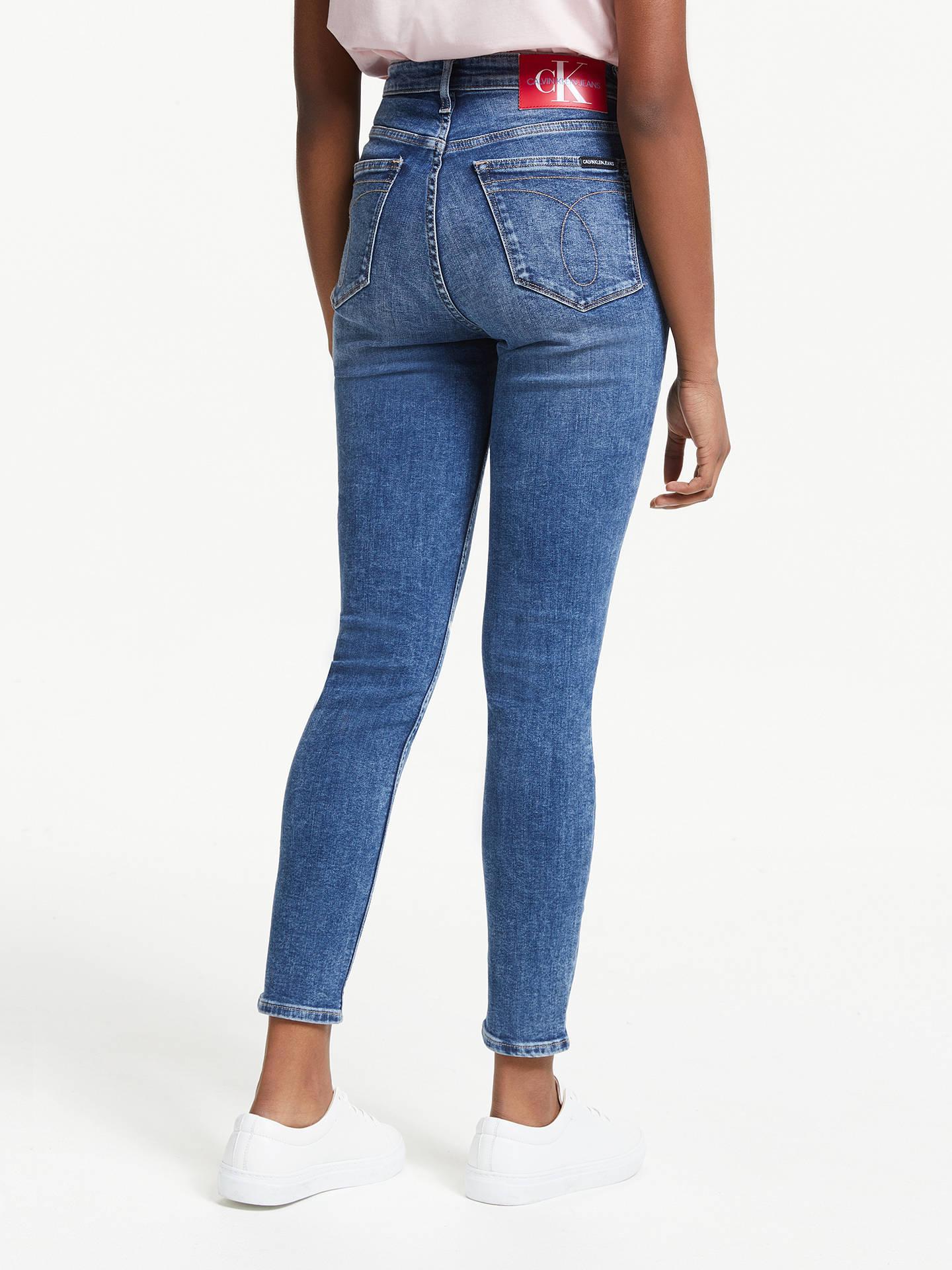 e4f0ed866bca0 ... Buy Calvin Klein High Rise Skinny Ankle Jeans, Iconic Dark Stone,  W27/L30 ...