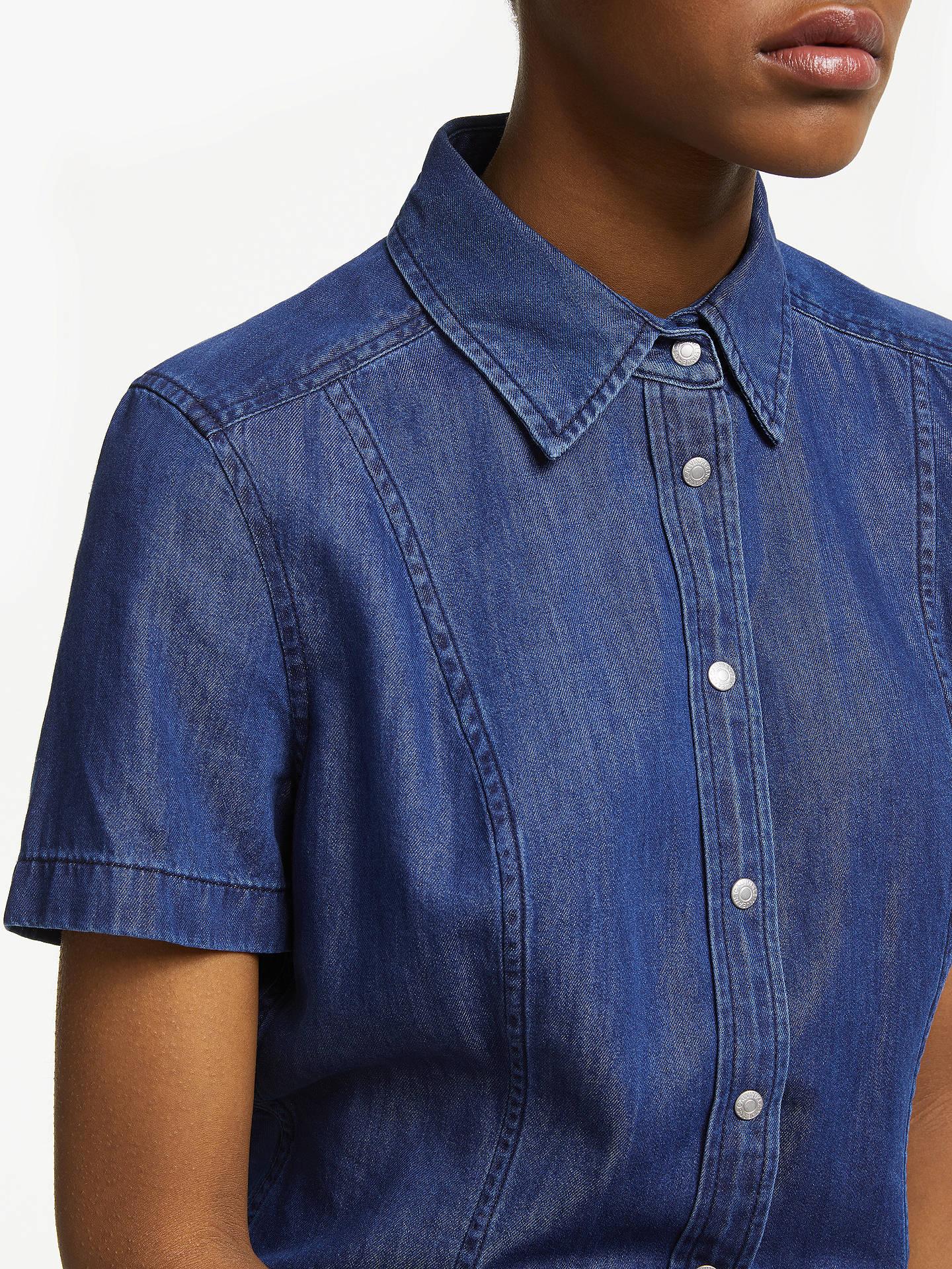 Calvin Klien Womens Navy Blue Linen