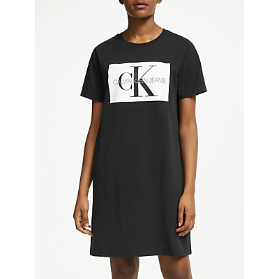 Calvin Klein Jeans Monogram T-Shirt Dress, CK Black