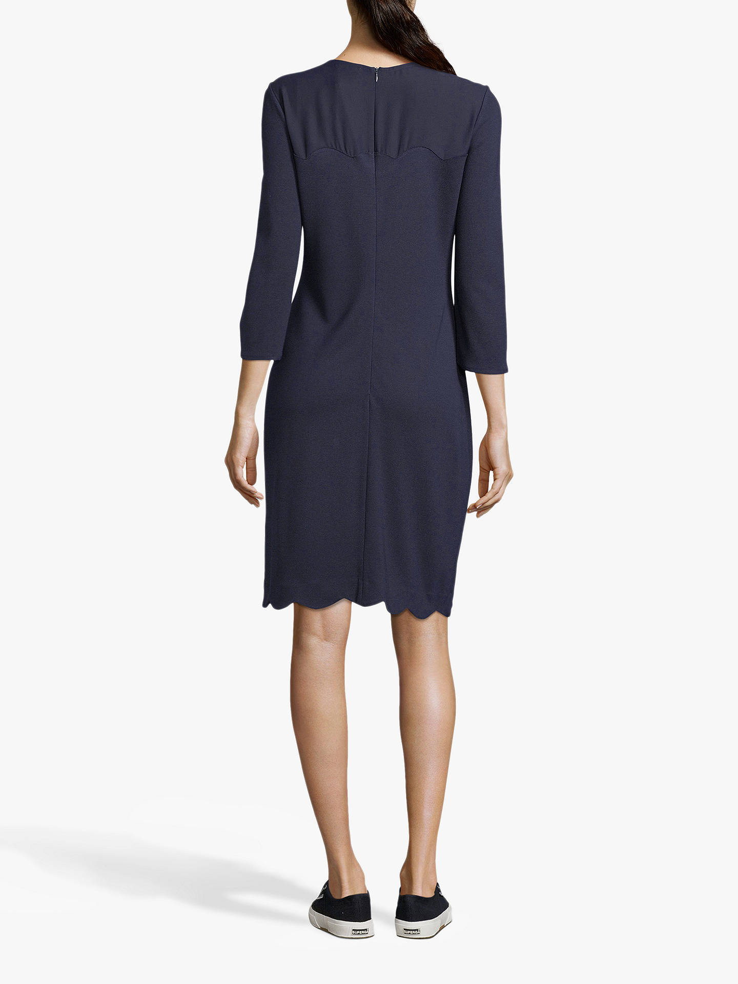 Buy Betty & Co. Jersey Shift Dress, Dark Sapphire, 14 Online at johnlewis.com