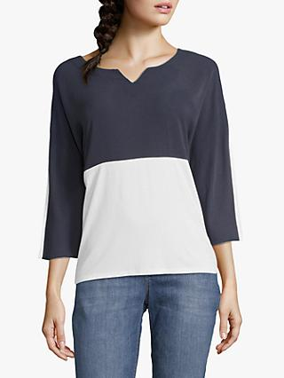 Betty & Co. Two Tone Top, Blue/White