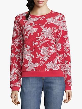 Betty & Co. Floral Print Jumper, Red