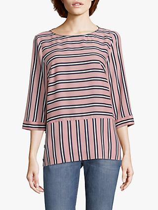 Betty & Co. Stripe Blouse, Rose/Blue