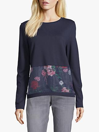 Betty & Co. Layered Floral Top, Dark Sapphire