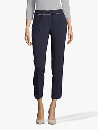 Betty & Co. Crêpe Piped Trousers, Dark Sapphire