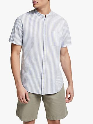 JOHN LEWIS & CO. Grandad Button Through Striped Shirt