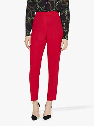 Damsel in a Dress Isabella Tapered City Suit Trousers, Red