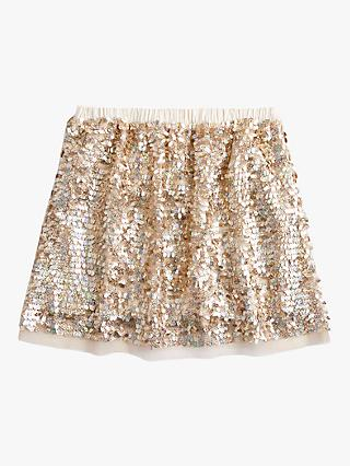 crewcuts by J.Crew Girls' Holly Sequin Skirt, Gold