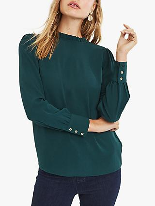 Oasis Textured Pie Crust Shell Top, Teal Green