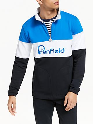 Penfield Gravas Colour Block Sweatshirt, Black