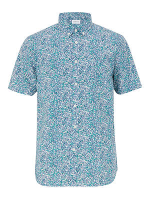 Buy Penfield Tomah Printed Shirt, Blue, L Online at johnlewis.com