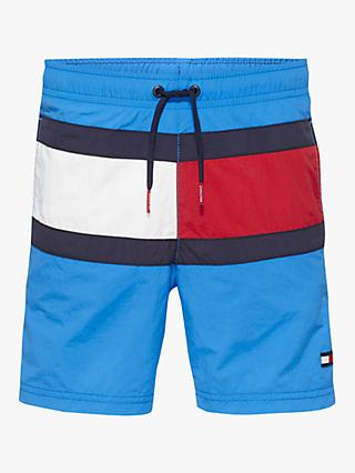 Tommy Hilfiger Boys' Flag Swimming Shorts, Blue