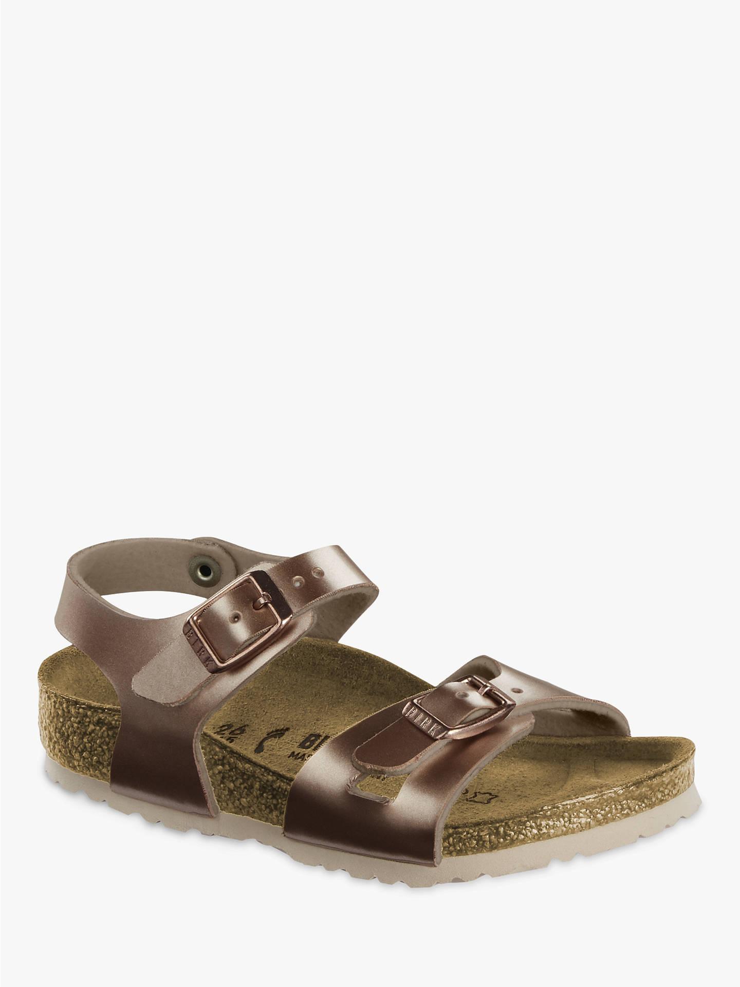 f365aa494 Buy Birkenstock Children's Rio Electric Metallic Buckle Sandals, Copper, 28  Online at johnlewis.