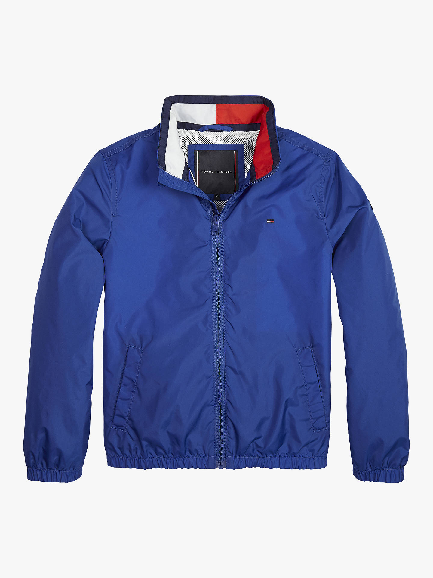 4e09f0fc7 Buy Tommy Hilfiger Boys' Essential Flag Jacket, Blue, 6 years Online at  johnlewis ...