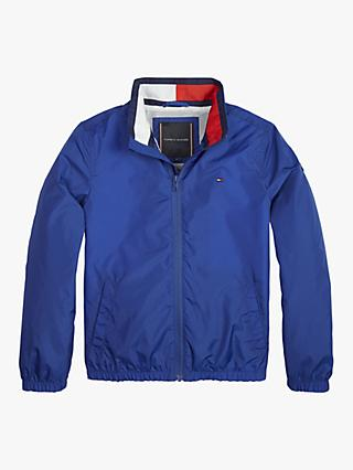Tommy Hilfiger Boys' Essential Flag Jacket, Blue