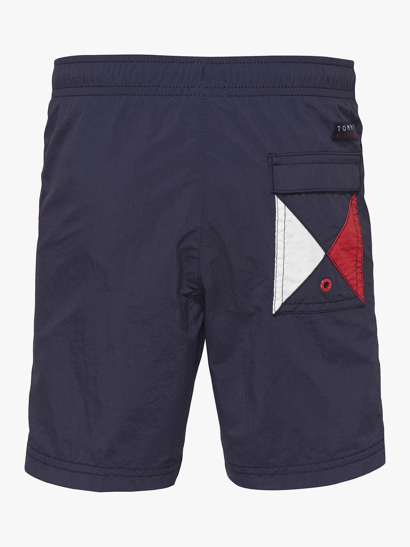 4524445ff ... Buy Tommy Hilfiger Boys' Flag Swimming Shorts, Navy, 10-12 years Online