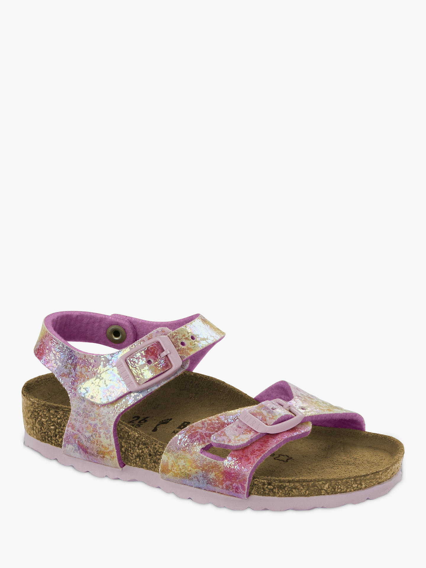 Birkenstock Children's Rio Watercolour Buckle Sandals, Multi