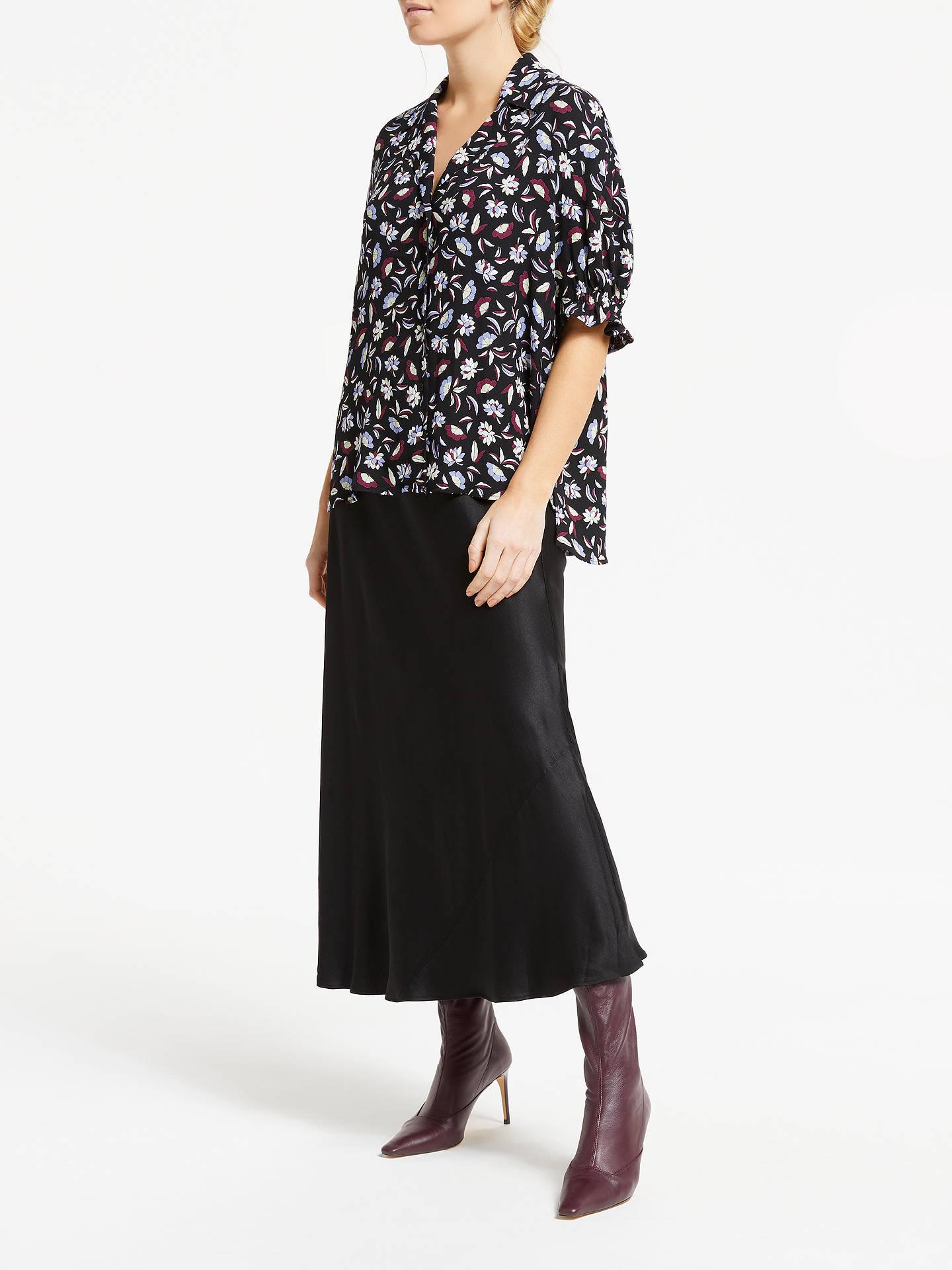 cafeb3b693 ... Buy Finery Alberte Satin Skirt, Black, 10 Online at johnlewis.com ...