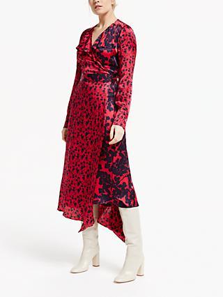 99f27a3d4ab7 Finery Daria Ruffle Detail Floral Asymmetric Midi Dress