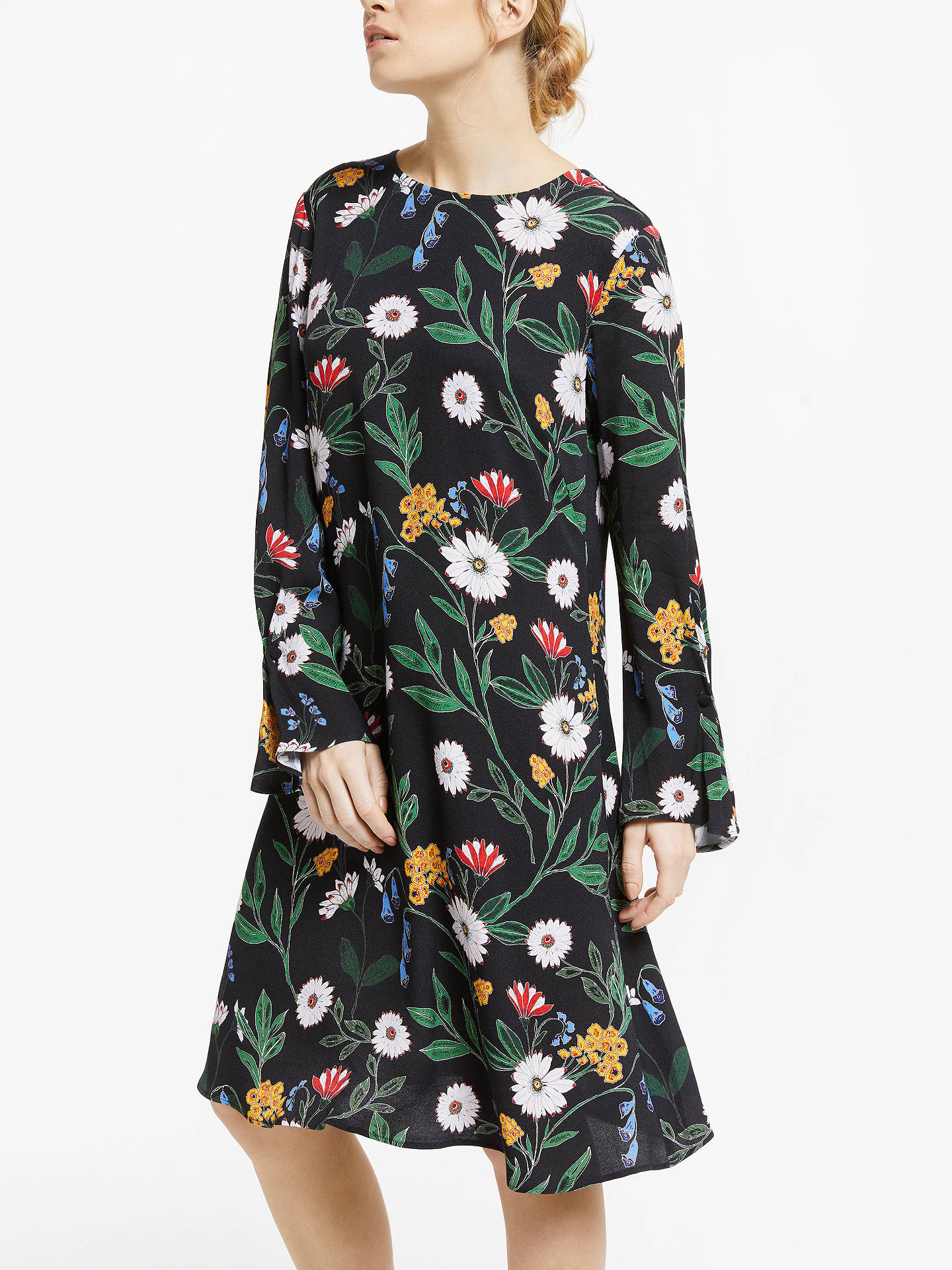 Buy Finery Jessi Dress, Black, 8 Online at johnlewis.com