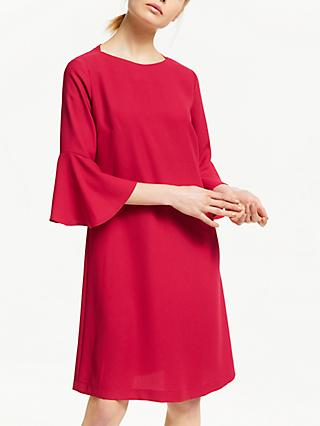 Finery Azalea Bell Sleeve Dress, Red