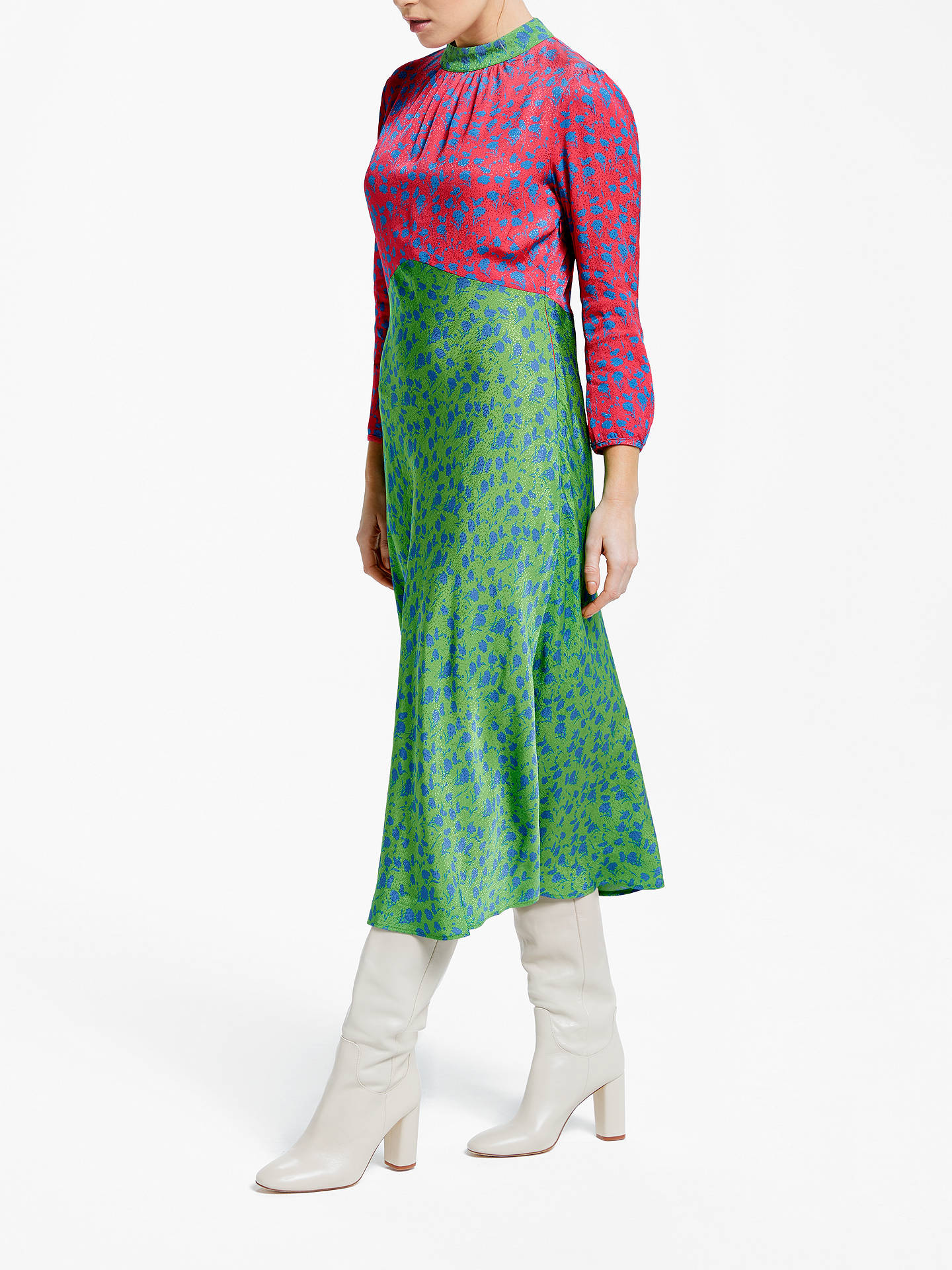Buy Finery Sara Two-Tone Floral Midi Dress, Shadow Ditsy, 10 Online at johnlewis.com