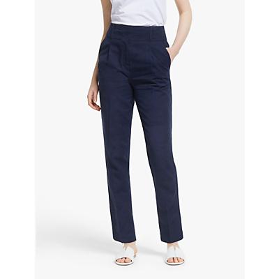 John Lewis & Partners Peg Trousers, Navy