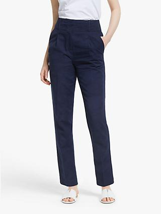 John Lewis & Partners Peg Trousers, Navy