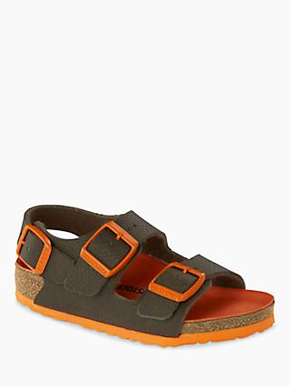 Birkenstock Children's Milano Buckle Sandals, Desert Soil Green