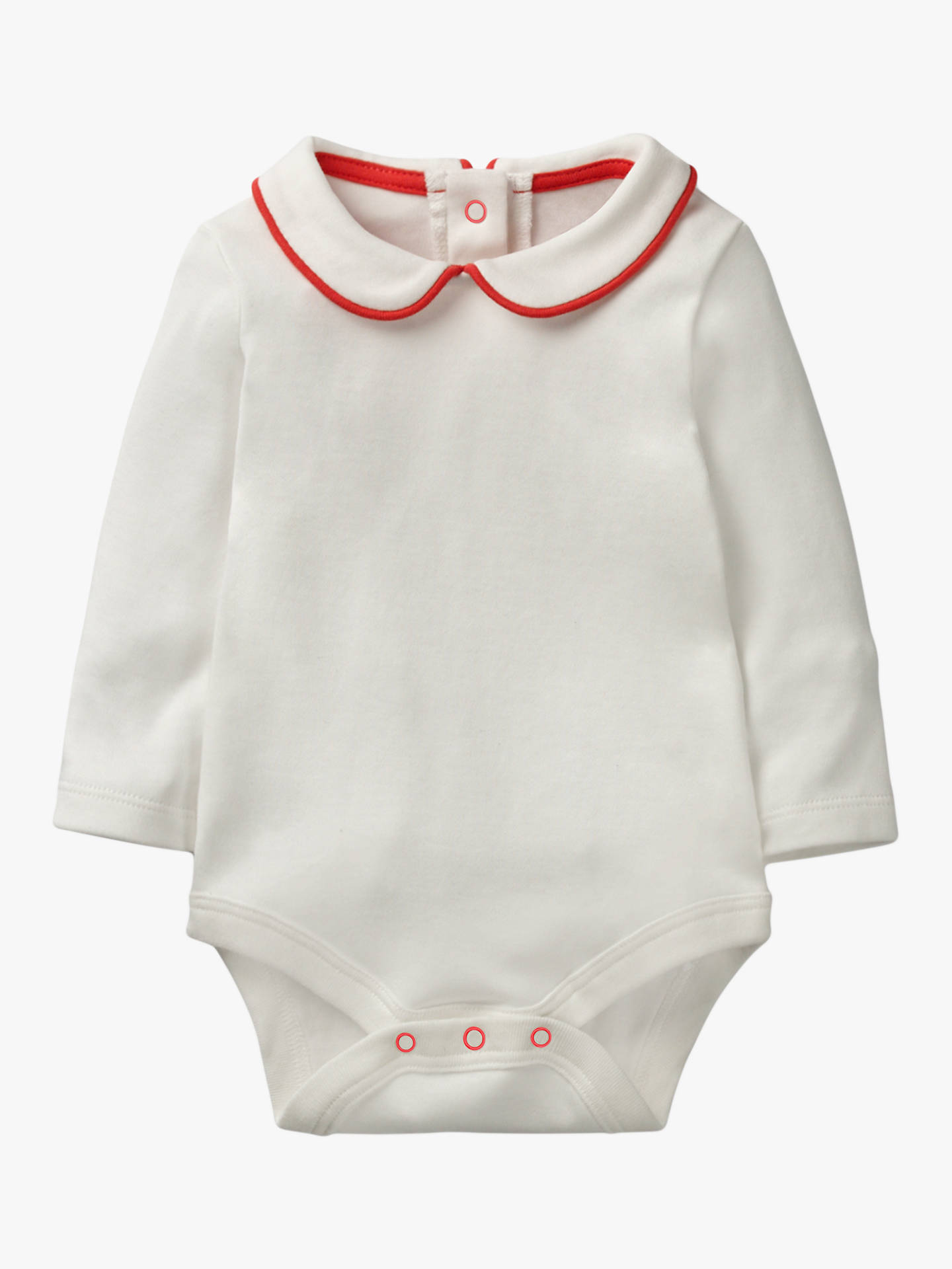 1f1481d65cba Buy Mini Boden Baby Traditional Collar Bodysuit, Ivory, 18-24 months Online  at ...
