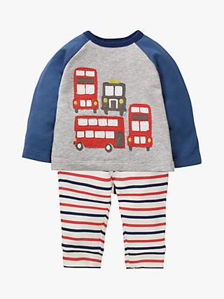 Mini Boden Baby Jersey London Theme Play Set, Jam Red/College Blue