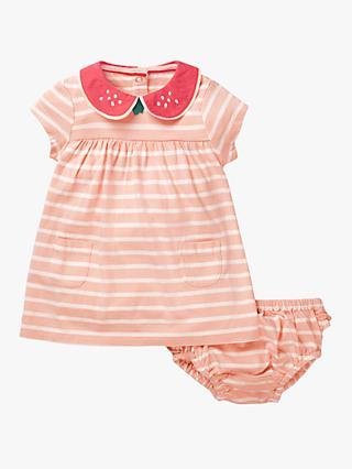 Mini Boden Baby Jersey Collared Dress, Provence Pink