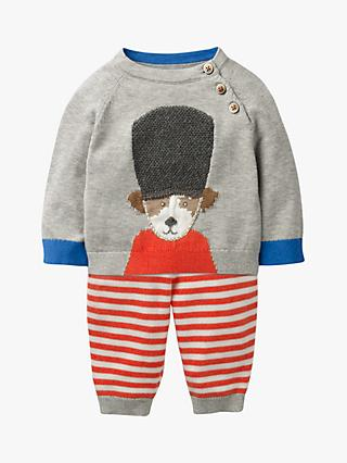 Mini Boden Baby Soldier Knitted Play Set, Grey Marl