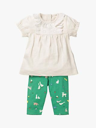 Mini Boden Baby Broderie Animal Play Set, Jungle Green