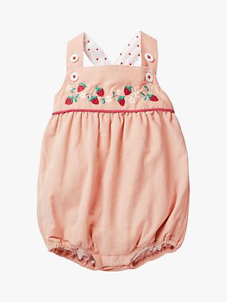 082dcffad861 Mini Boden Baby Strawberry Embroidery Romper