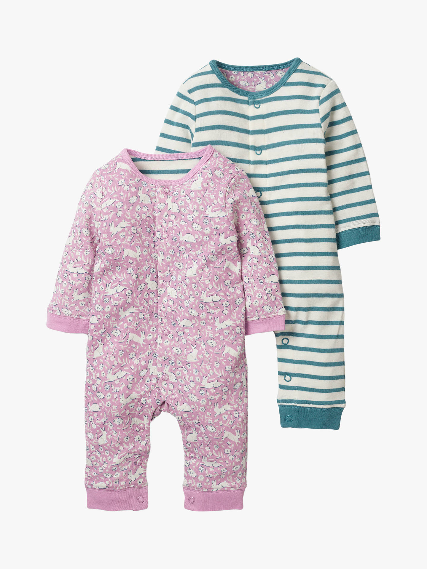 bec5dd93acbc2 Buy Mini Boden Baby Twin Bunny Stripe Romper