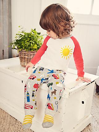 Mini Boden Baby Weather in my Pocket Appliqué Long Sleeve Top, Ivory Sunshine
