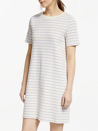 Great Plains Monroe Stripe Dress, Cream/Misted Lilac