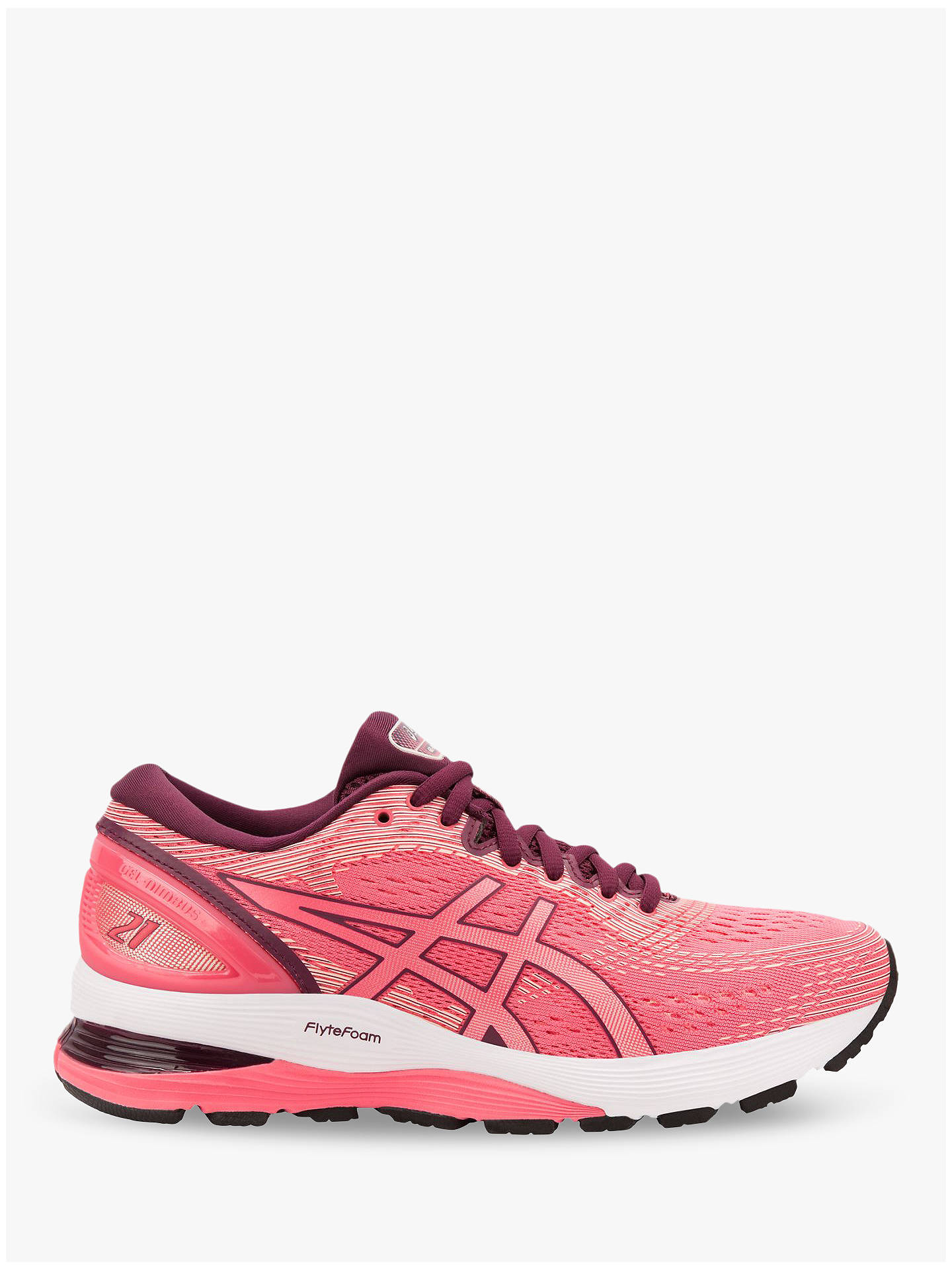 f83b5c81ae5 Buy ASICS GEL-NIMBUS 21 Women's Running Shoes, Pink Cameo/Baked Pink, ...