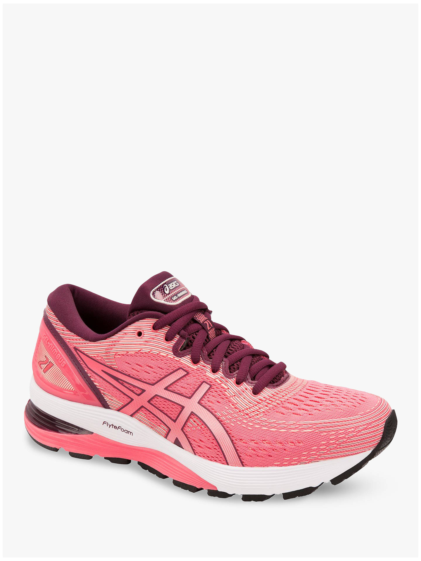 9e7db507e9f ... Buy ASICS GEL-NIMBUS 21 Women's Running Shoes, Pink Cameo/Baked Pink,  ...