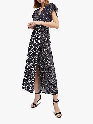 French Connection Aliyah Maxi Dress, Utility Blue/Multi