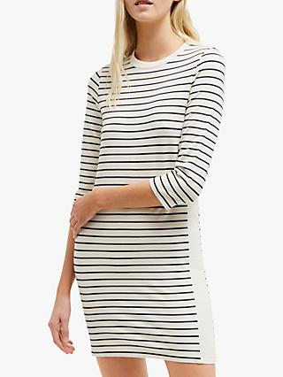 cc41f135c86 French Connection Tim Tim Striped Dress, Classic Cream/Utility Blue