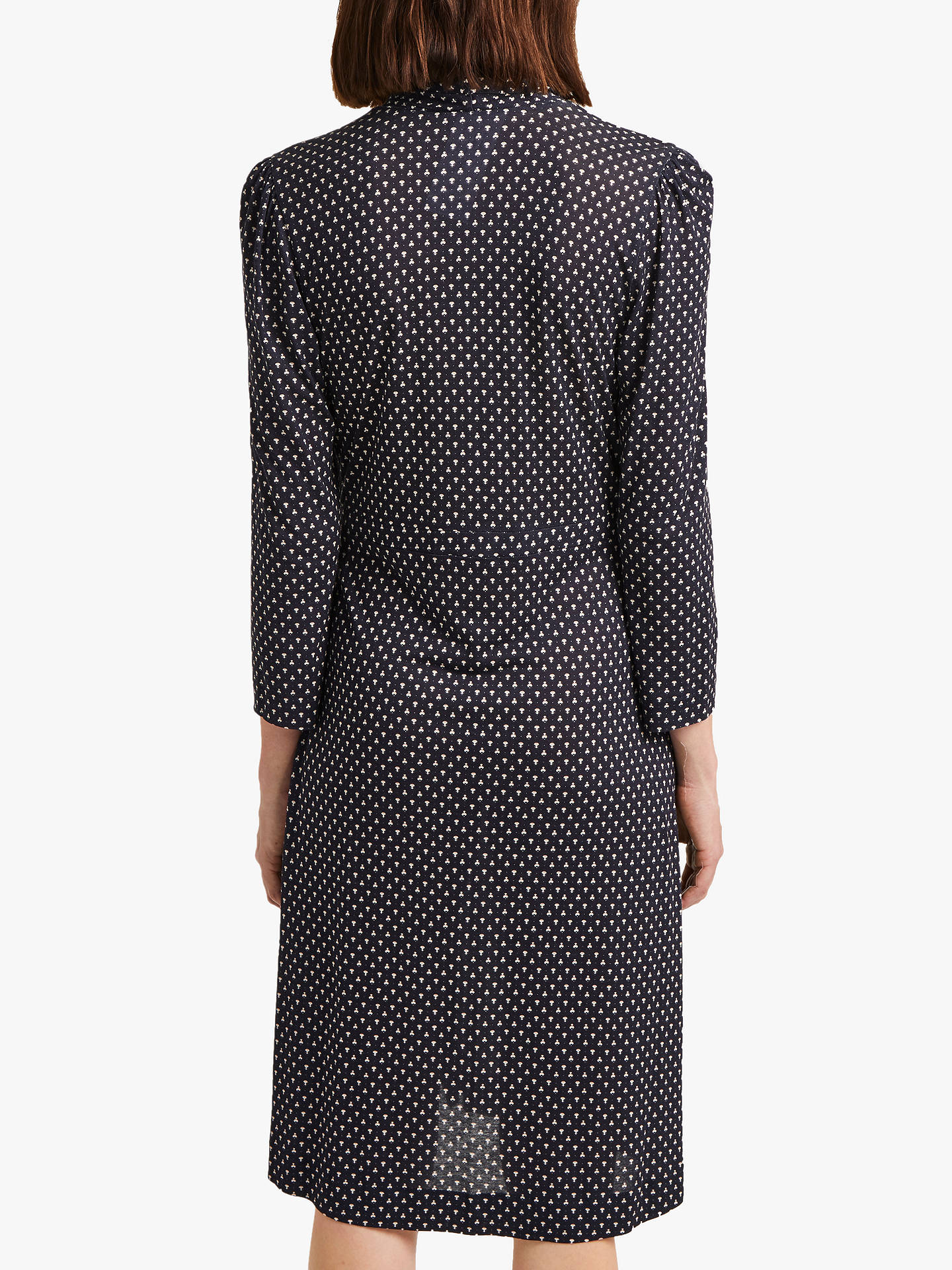 Buy French Connection Caressa Dot Wrap Dress, Utility Blue/Multi, 8 Online at johnlewis.com